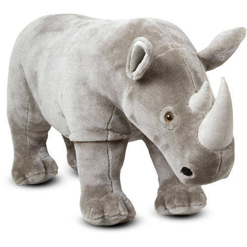 Melissa & Doug Giant Rhinoceros - Lifelike Stuffed Animal (nearly 3 feet long)