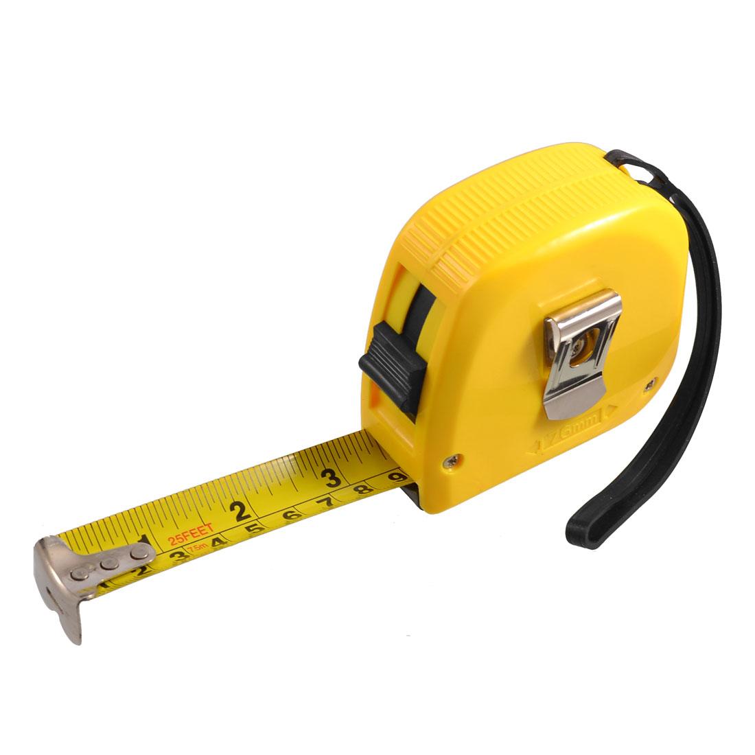 25mm x 7.5M 294 Inch Manual Lock Flexible Tape Measure Ruler Measuring Tool