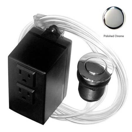 Westbrass ASB-2-26 Disposal Air Switch and Dual Outlet Control Box - Polished Chrome