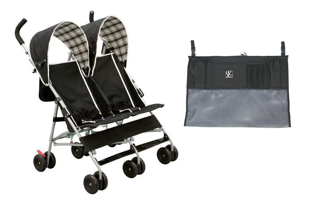 Coche Para Bebe Delta al lado silla con organizador cochecito doble ancho + Delta en Veo y Compro