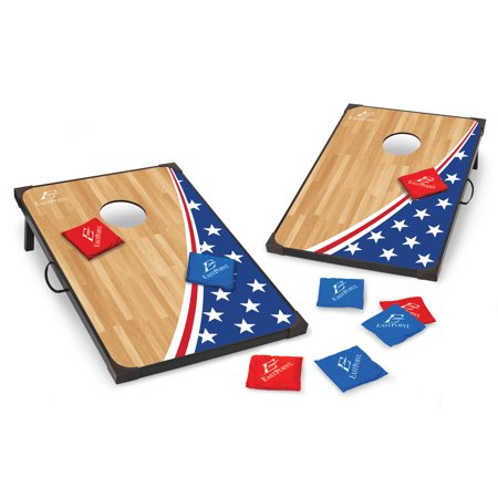 EastPoint Sports Americana Cornhole Outdoor Entertainment Set; Includes Two 3 Feet by 2 Feet Bean Bag Toss Boards with Reinforced Corners and Sides, Eight Bean Bags; Bag Toss Game Set; Not