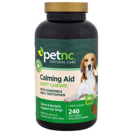 PetNC - Calming Aid Stress & Anxiety Support For Dogs Liver Flavor - 240 Soft Chews