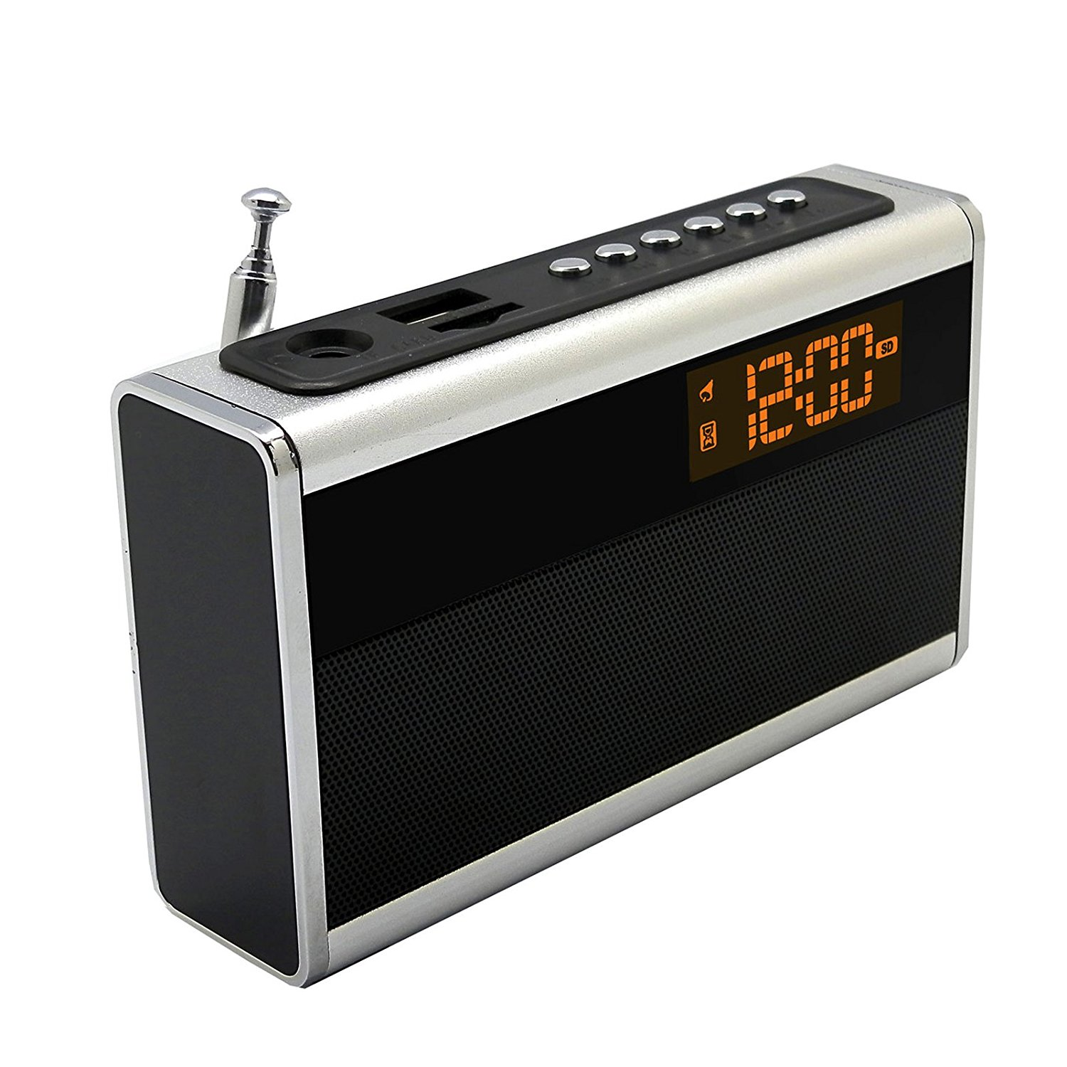 Supersonic Portable Rechargeable Speaker with Alarm Clock...