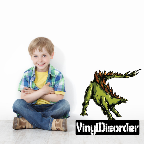 Stegosaurus Dinosaur Wall Decal - Vinyl Car Sticker - Uscolor004 - 25 Inches
