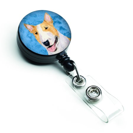 Bull Terrier  Retractable Badge Reel or ID Holder with Clip SS4772