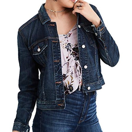 New  American Eagle Womens Classic Denim Jacket, Blue (XL) (American Eagle Jackets)