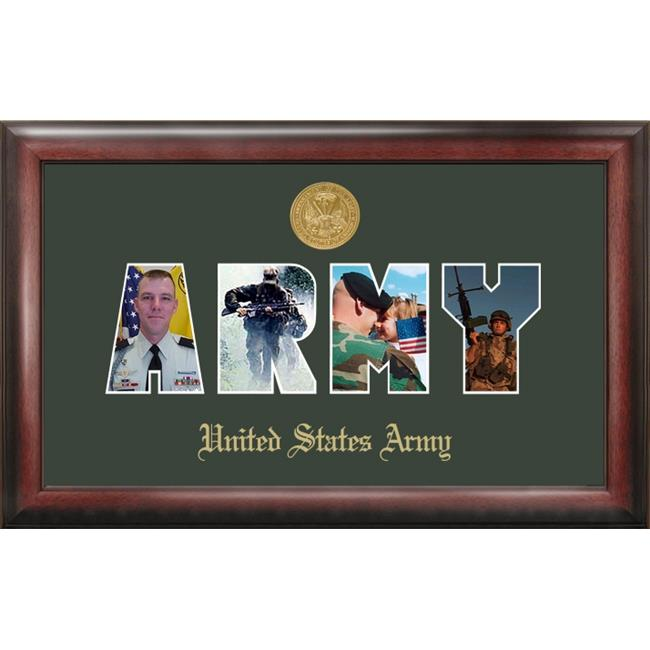 Campus Image ARSSG001 Army Collage Photo Frame Gold Medallion
