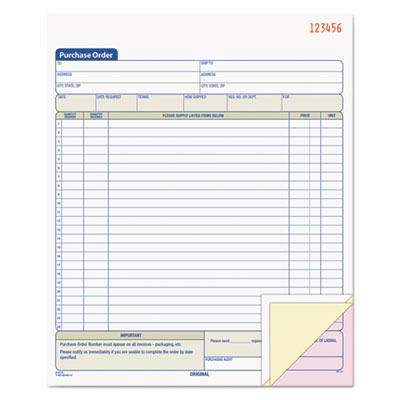 Purchase Order Book TOP46147 by