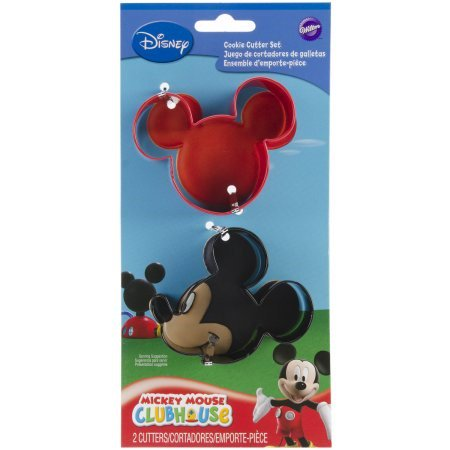 Disney Mickey Mouse Clubhouse Metal Cutter Set, 2 pc. (Mickey Mouse Cookie Cutter Large)