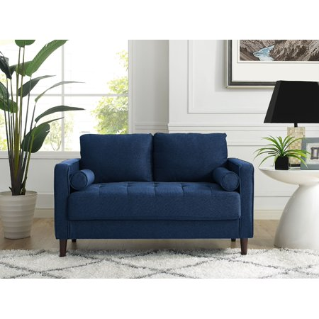 Tremendous Lifestyle Solutions Lorelei Loveseat In Navy Blue Fabric Inzonedesignstudio Interior Chair Design Inzonedesignstudiocom