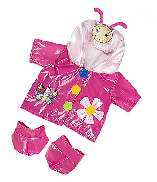 "Butterfly Raincoat Fits Most 8"" 10"" Build-a-bear, Vermont Teddy Bears, and Make... by Teddy Mountain"