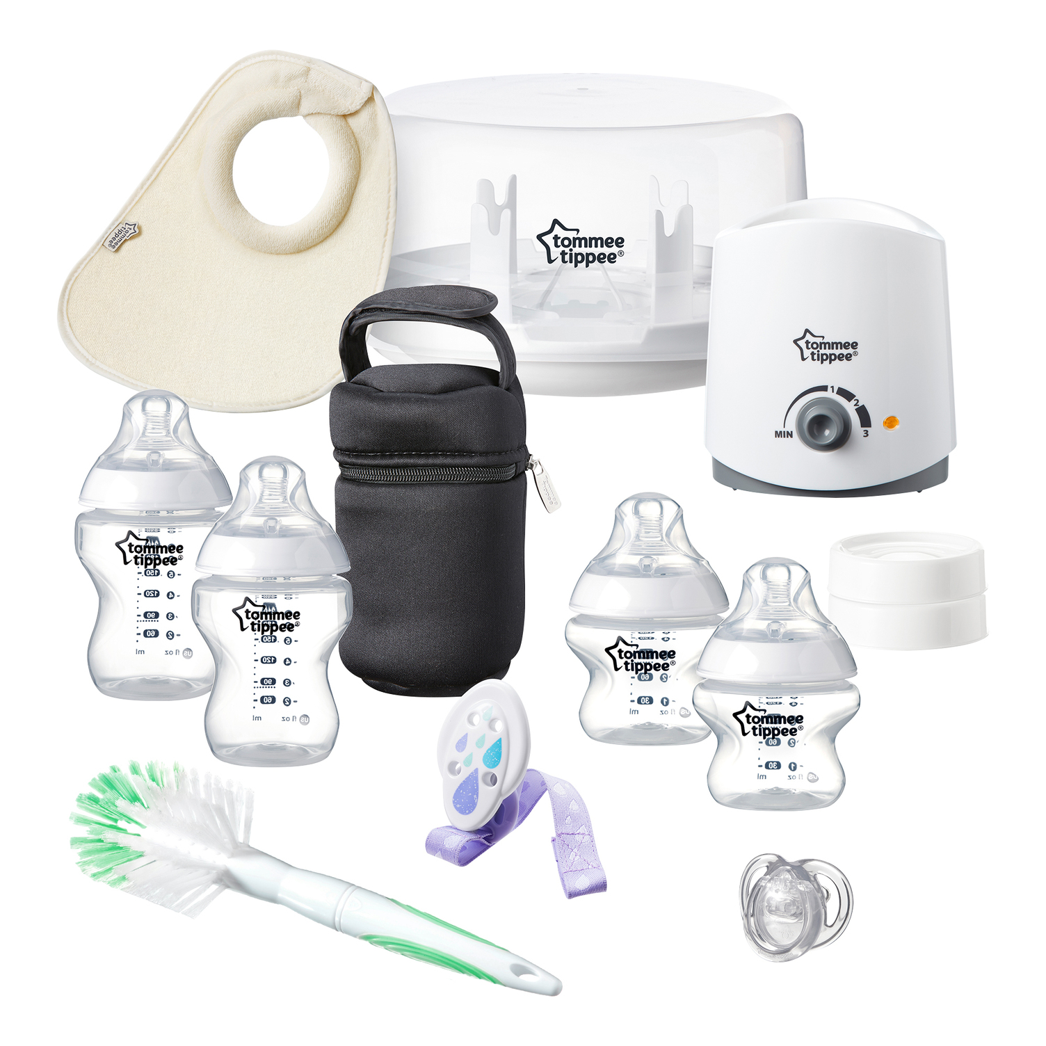 Tommee Tippee Closer to Nature All in One Newborn Baby Feeding Starter Set by Tommee Tippee