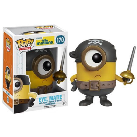 Funko POP Movies, Minions: Eye Matie Stuart 3 3/4 Inch - Minion Movie Characters
