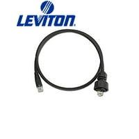 Leviton D6721-5E DuraPort Industrial Patch Cord Plug-to-RJ45 5-Foot - Black