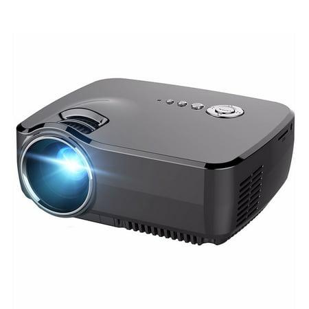 ELEGIANT GP70 1200LM 1080P HD Mini LED Projectors Home /USB/AV/SD/VGA + TV