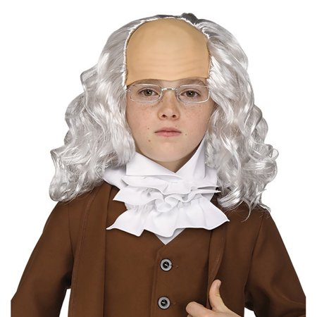 Benjamin Franklin Halloween Costume (Boys Ben Franklin Wig with)