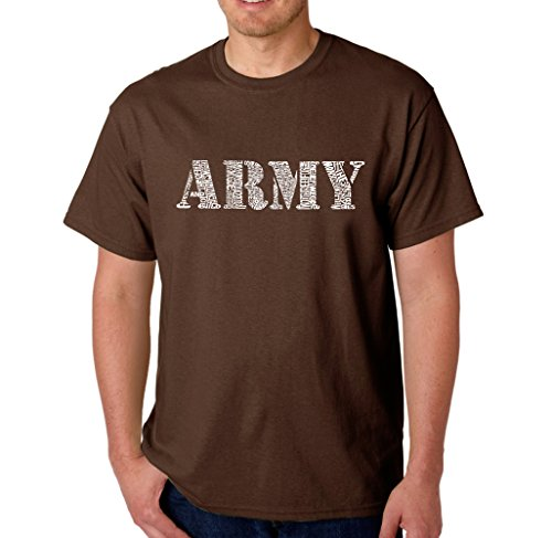 Men's Graphic Novelty T-shirt Tees 100% Cotton - Lyrics To Army Song - Brown - XXX-Large