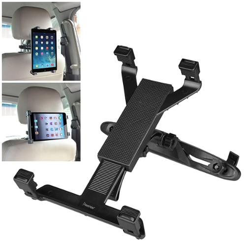"Insten Car Back Seat Headrest Mount Tablet Holder For iPad 3 4 5 6 Air Mini 4th 3rd / Samsung Galaxy Tab A E S S2 Pro / Kindle Fire HD 8"" 10"" / RCA / Visual Land / Nextbook / Double Power / Universal"