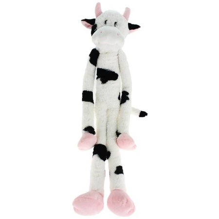 "Multipet Swingin Slevins Plush Dog Toy, 30"", Cow"