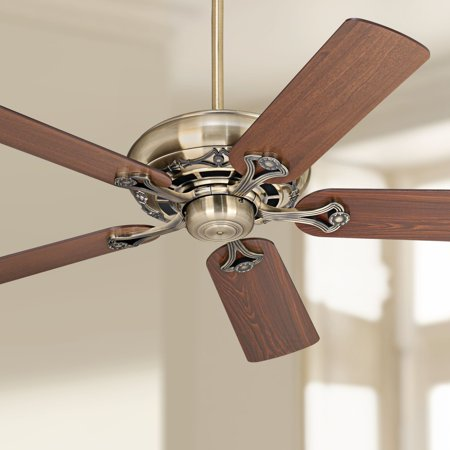 "52"" Casa Vieja Ceiling Fan Antique Brass Cherry for Living Room Kitchen Bedroom Family Dining"