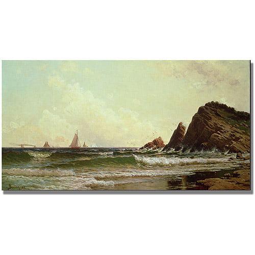 """Trademark Fine Art """"Cliffs at Cape Elizabeth"""" Canvas Art by Alfred Bricher"""