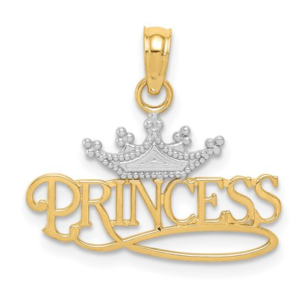 14k Yellow Gold Princess Crown Pendant Charm Necklace Kid Talking Fine Jewelry For Women Gifts For Her - image 6 of 6