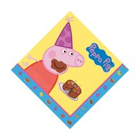 Peppa Pig Lunch Napkins - Party Supplies - 16 Pieces