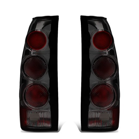 For 1988 to 2000 Chevy GMC C10 C/K Pickup Suburban C1500 C2500 K1500 K2500 Piar Altezza Euro Style Tail Light Brake / Reverse Lamps Smoked 89 90 91 92 93 94 95 96 97 98 99