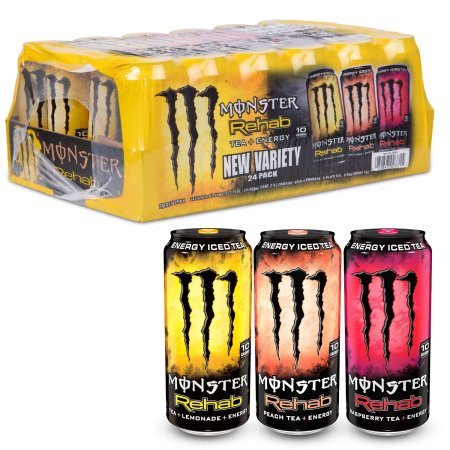Monster Energy Rehab  Variety Pack  15 5 Oz  24 Ct