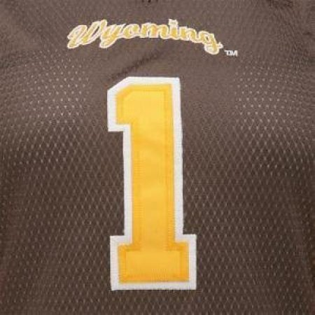 release date 84149 4bc7d Wyoming Cowboys Women's Colosseum Dynasty Football Jersey - #1