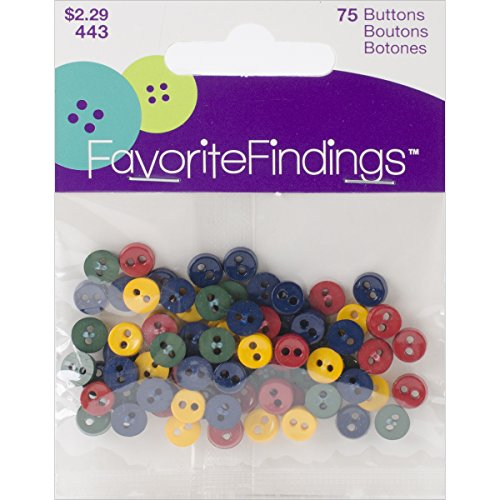 Favorite Findings Mini Buttons 75/Pkg-Country