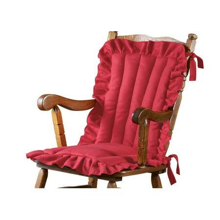 Ruffled Edge Comfort Chair Cushion Red Walmart Com