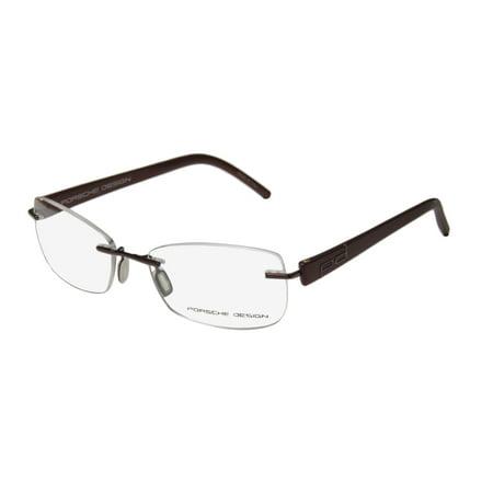 e196882ecae New Porsche Design 8209 S2 Mens Womens Designer Rimless Burgundy Frame Demo  Lenses 52-16-135 Eyeglasses Eyeglass Frame - Walmart.com