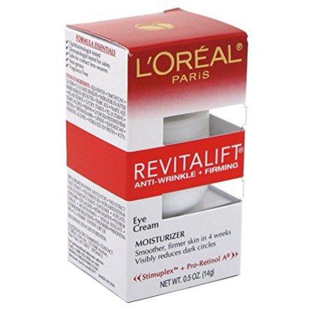 L'Oreal Paris Revitalift Anti-Wrinkle + Firming Eye Cream Treatment, 0.5 fl. oz. (Pack of