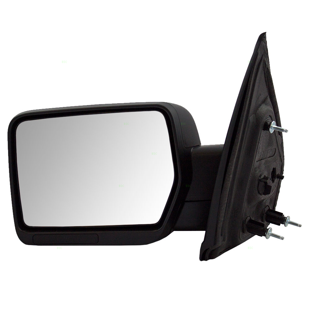 Drivers Manual Side View Mirror W Spotter Glass Textured Pedestal