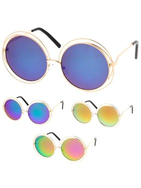 34e7ea1b54b0 Product Image MLC Eyewear Hipster Fashion Round Double Wire Flash Lens  Women Sunglasses Model S60W3190