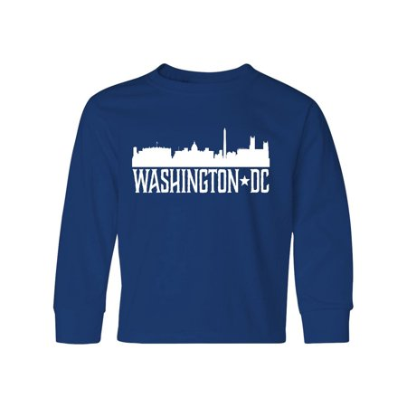Washington DC Skyline Cities Youth Long Sleeve