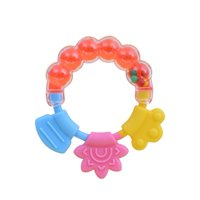 LYUMO Safe Durable Rolling Bell Pattern Kid Baby Toddler Teether Learning Intellectual Toys, Baby Teether,Teether