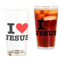 CafePress I Heart Jesus Pint Glass, Drinking Glass, 16 oz. CafePress