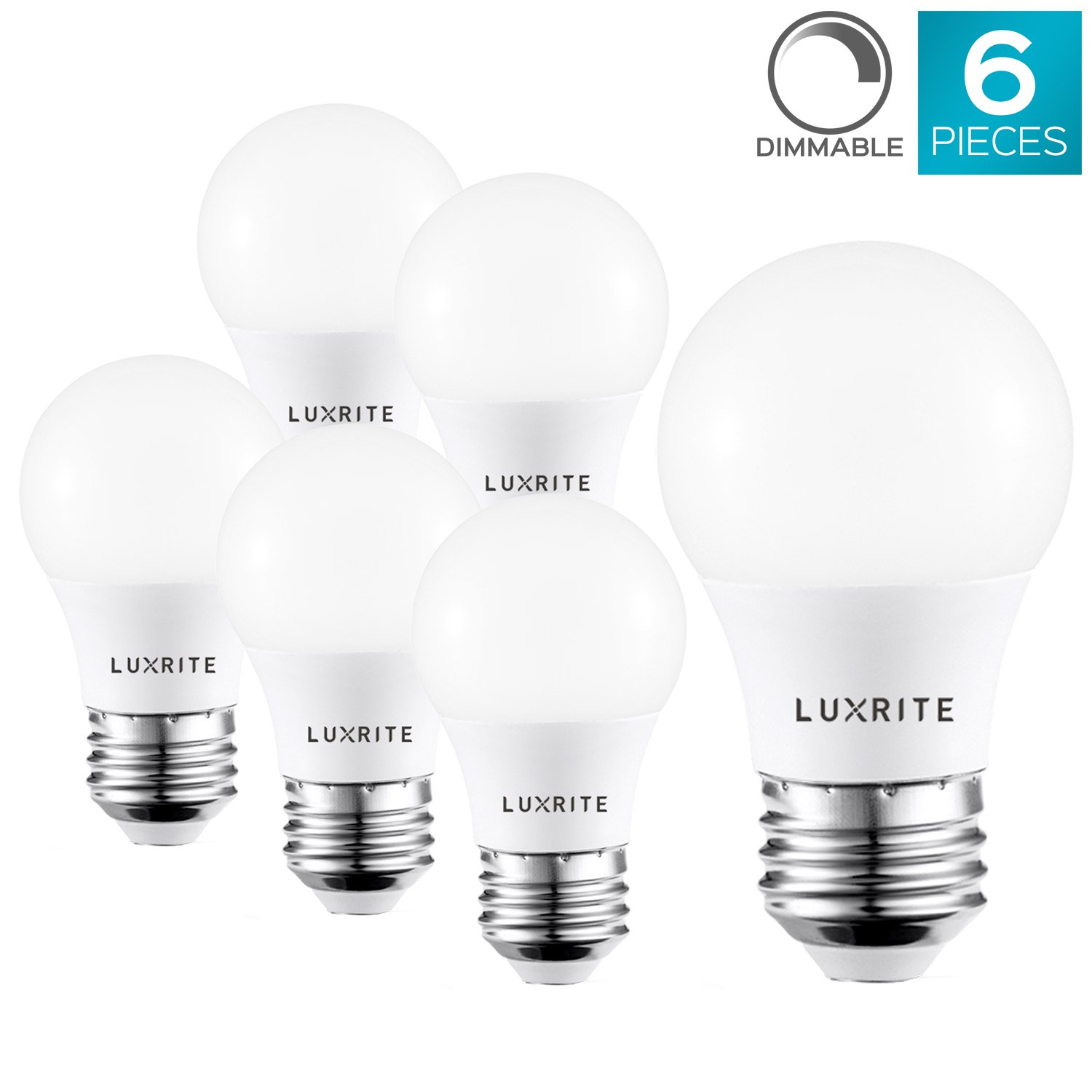 Luxrite A15 LED Light Bulb, 40W Equivalent, 3000K Warm White ...