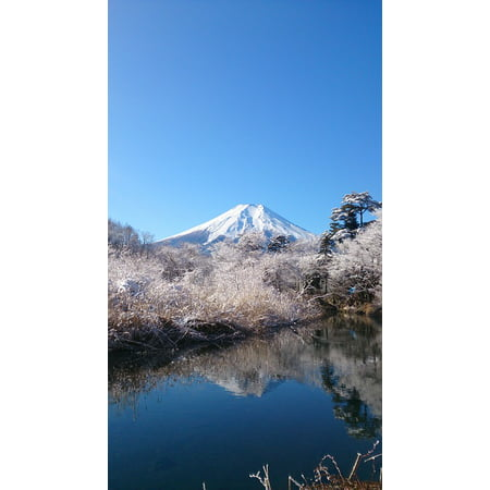 LAMINATED POSTER Mt Fuji Mountain World Heritage Site Blue Sky Poster Print 24 x