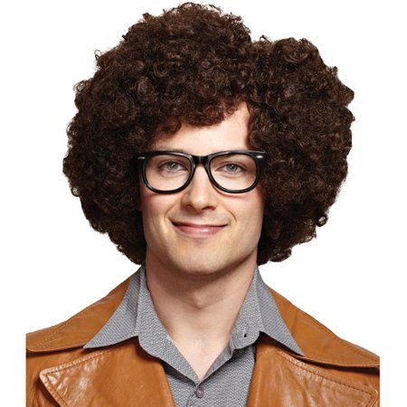 Party Rock Brown Wig Adult Halloween Accessory