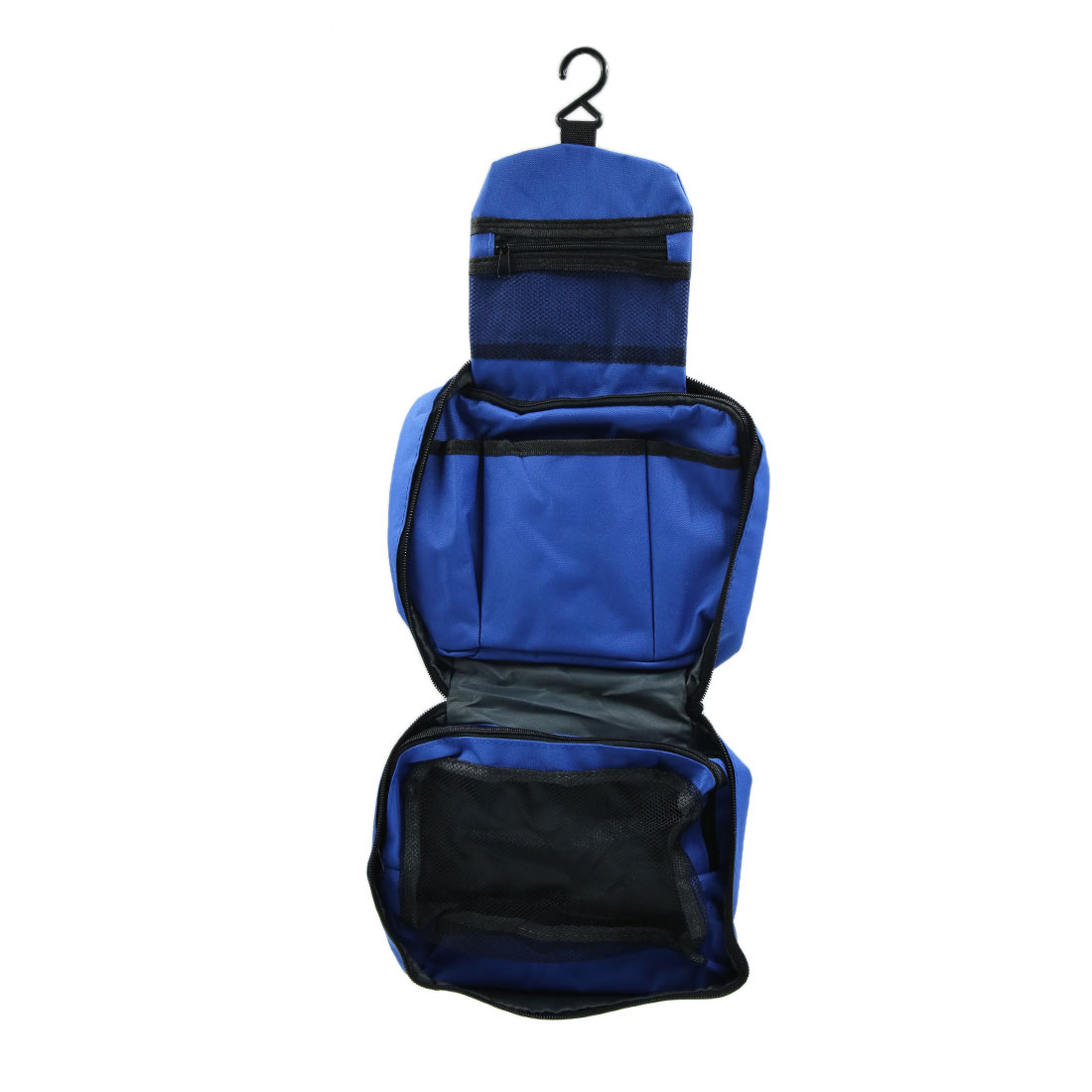 Blue Waterproof Zipper Travel Cosmetic Toiletry Bag Storage Organizer Pouch - image 1 of 5