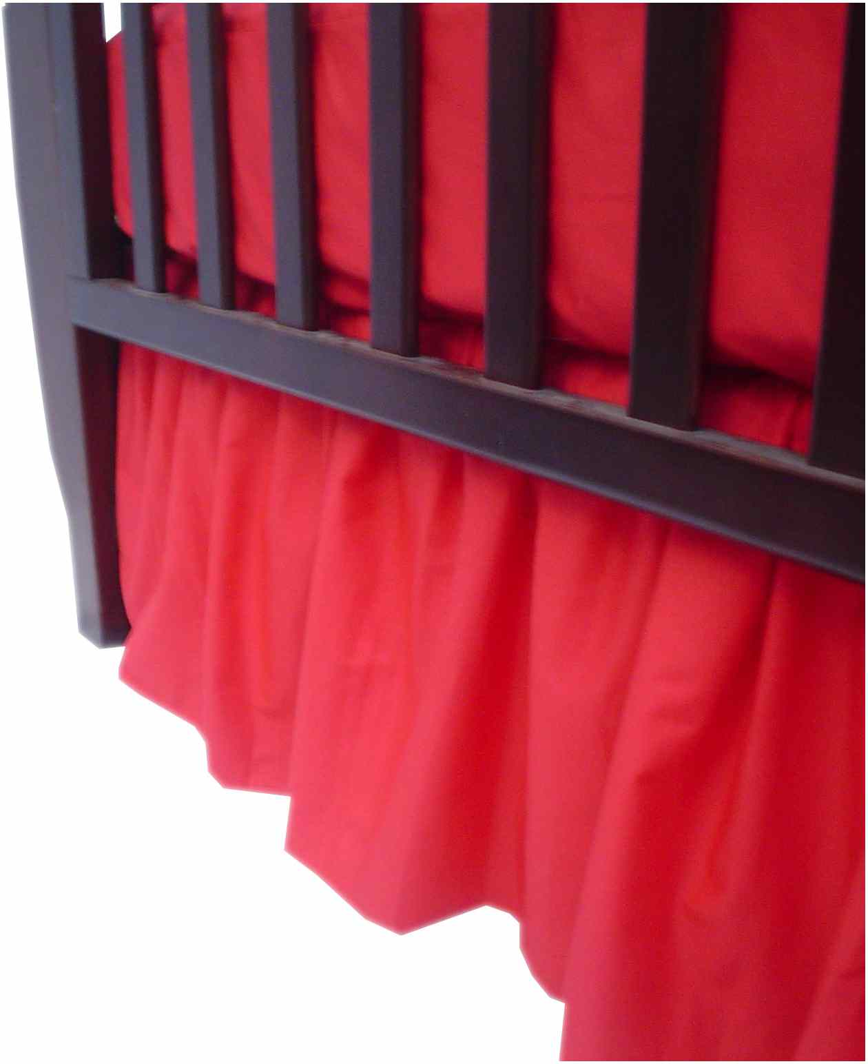 American Baby Company 100 Percent Cotton Percale Dust Ruffle - Red