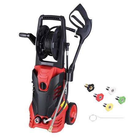 Yescom 3000PSI  Electric High Pressure Washer Machine Kit 1.9GPM 2200W with 5 Nozzles Built-in Soap Tank Hose