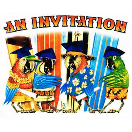 Graduation 'Grad Party' Invitations w/ Envelopes (25ct) - Luau Invitation Ideas