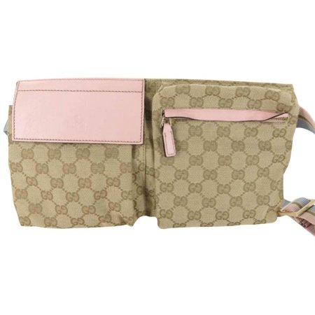 3579650fe041 Gucci - Monogram Gg Fanny Pack Waist Pouch 867848 Pink Canvas Cross ...