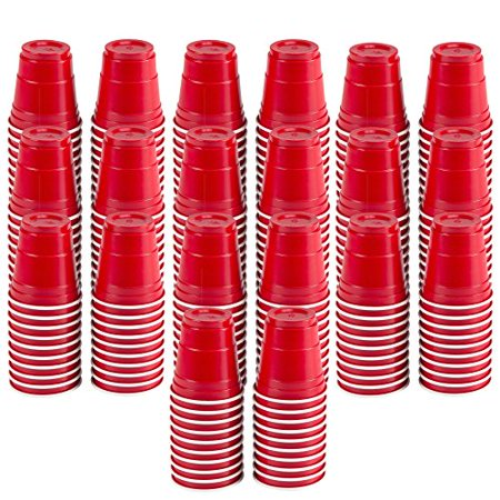 200pc Red Cup Mini Party Shot Glasses Set (2-Ounce) Great for Parties, Picnics, Tailgates, BBQ's, and Super Bowl Parties! - Super Bowl Items