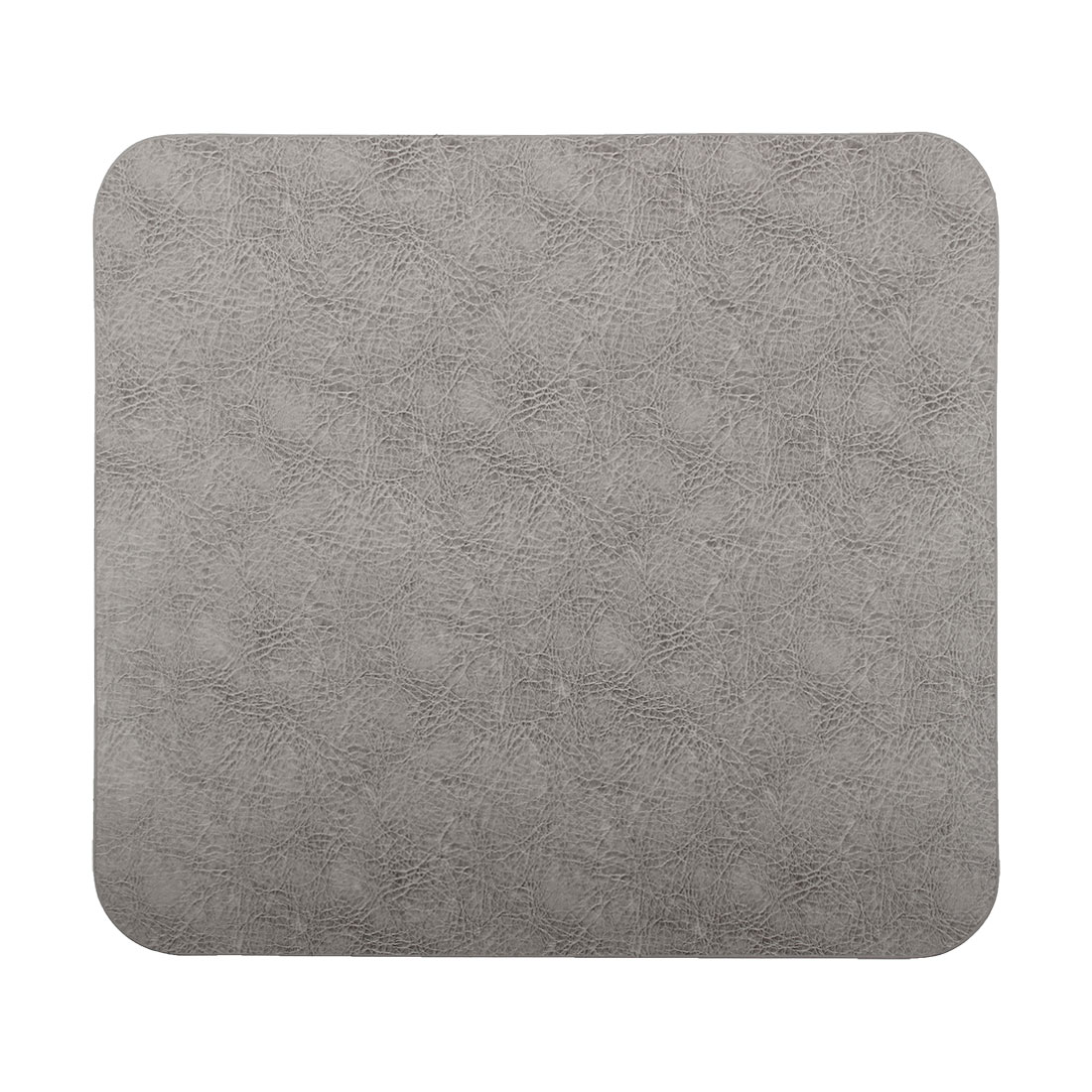 Faux Leather Rectangle Shaped Non-Slip Gaming Mouse Pad Gray for Computer Laptop