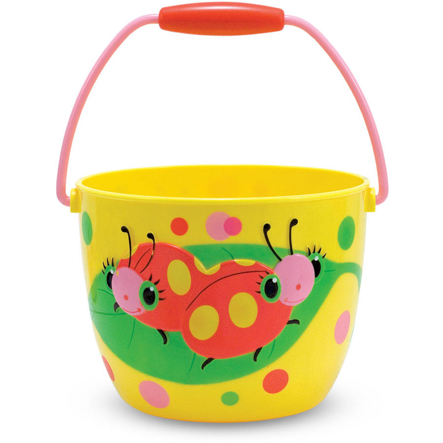 Melissa and Doug Sunny Patch Mollie and Bollie Ladybug Pail Outdoor Toy for Kids
